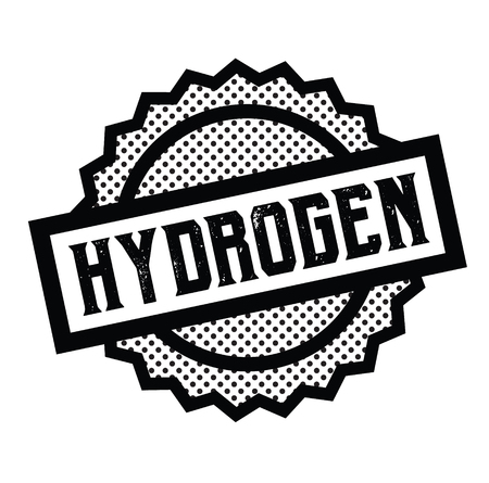 hydrogen stamp on white background . Sign, label sticker Çizim