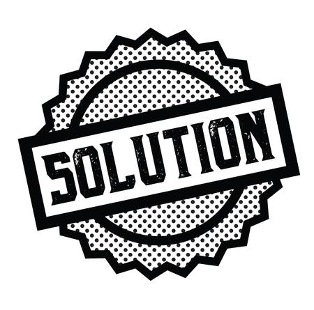 Lösungsstempel auf weiß Vektorgrafik