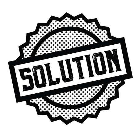solution stamp on white Illustration