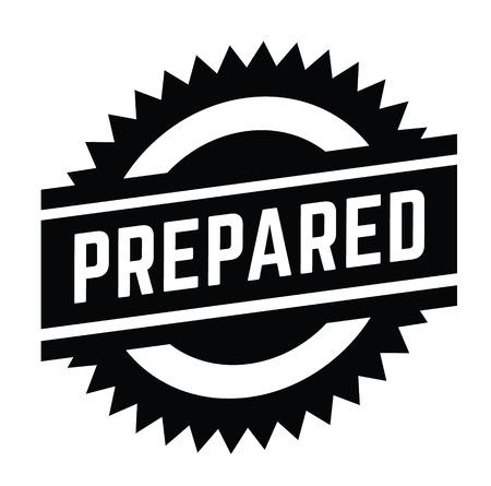 prepared stamp on white background . Sign, label sticker
