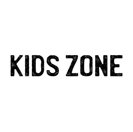 kids zone stamp on white background . Sign, label, sticker
