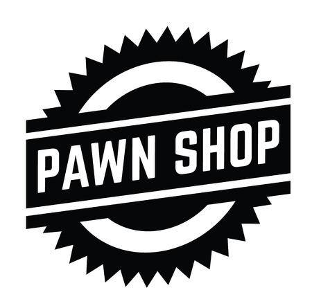 pawn shop stamp on white 일러스트