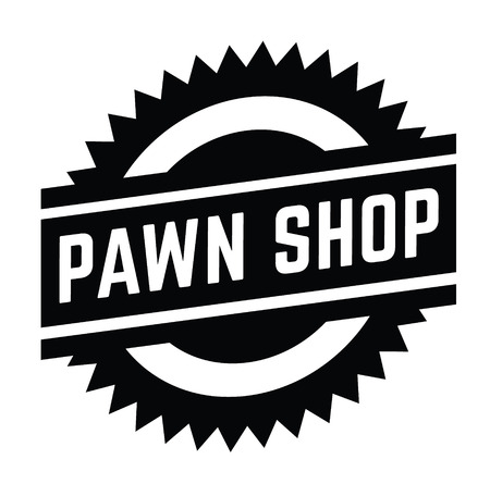 pawn shop stamp on white 일러스트