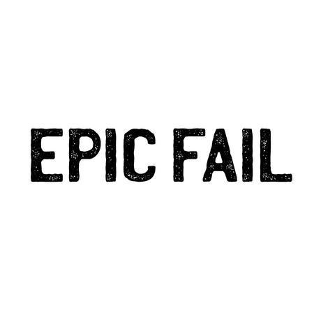 epic fail stamp on white background . Sign, label, sticker Çizim