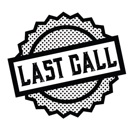 last call stamp on white 向量圖像