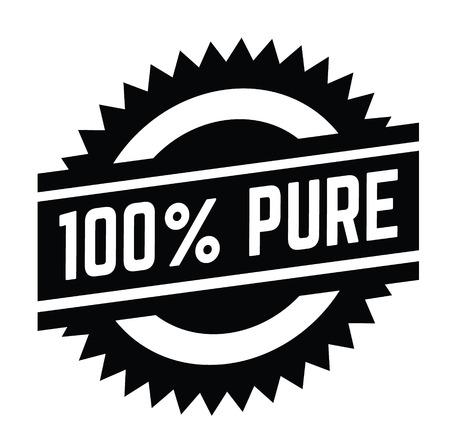 Timbro puro al 100% su sfondo bianco. Segno, etichetta, adesivo Vettoriali