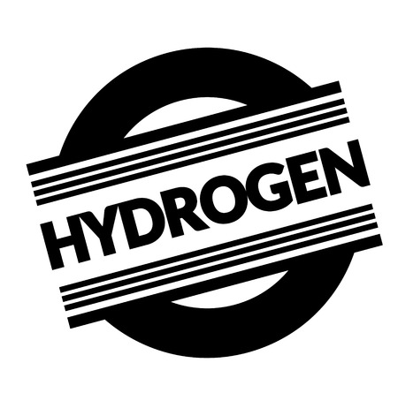 hydrogen stamp on white background . Sign, label sticker Illustration
