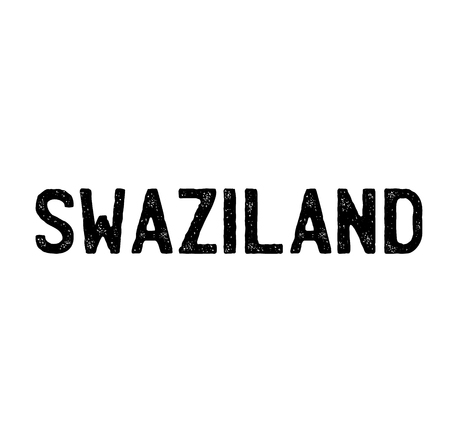 swaziland stamp on white background . Sign, label sticker Standard-Bild - 111801226