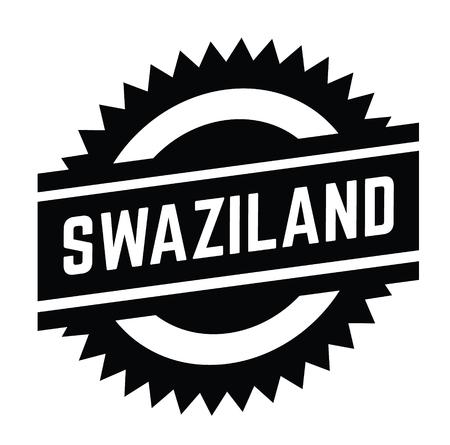 swaziland stamp on white background . Sign, label sticker Standard-Bild - 111801227