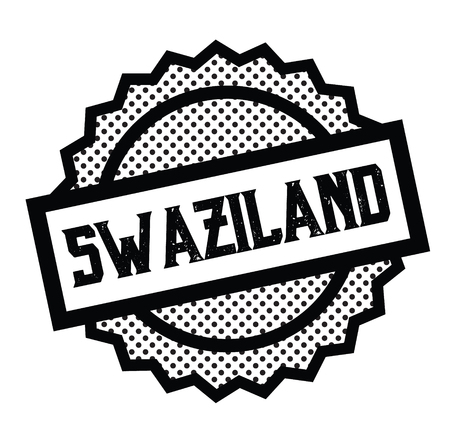 swaziland stamp on white Standard-Bild - 106830827