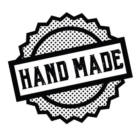 hand made stamp on white Ilustración de vector