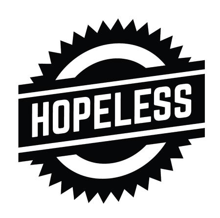 hopeless stamp on white