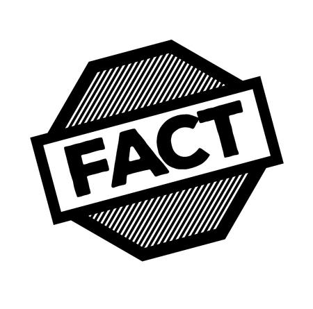 fact black stamp on white background. Sign, label, sticker Illustration