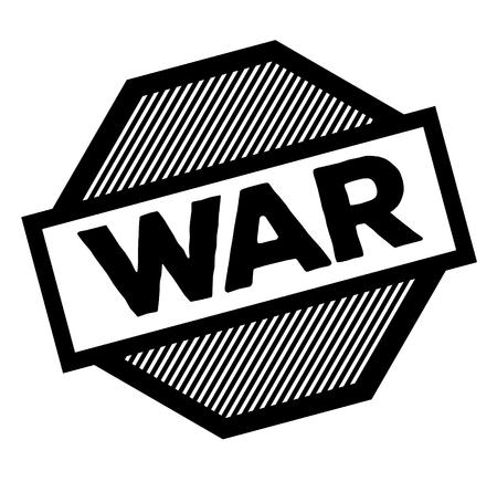 timbre de guerre noir sur fond blanc. Signe, étiquette, autocollant