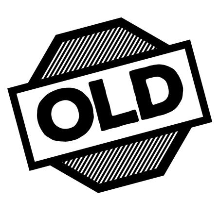 old black stamp on white background. Sign, label, sticker 일러스트