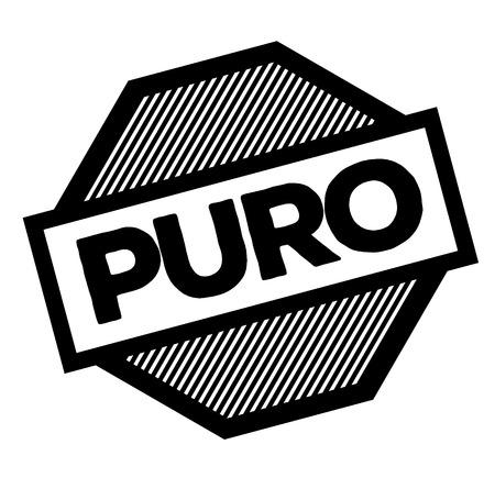 pure black stamp in spanish language. Sign, label, sticker