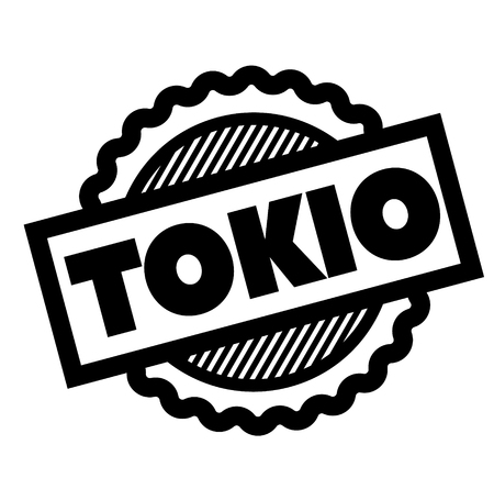 tokyo black stamp in spanish language. Sign, label, sticker Illustration