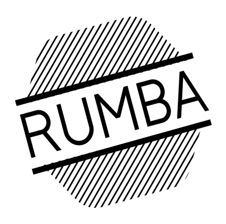 rumba black stamp in spanish language. Sign, label, sticker  イラスト・ベクター素材