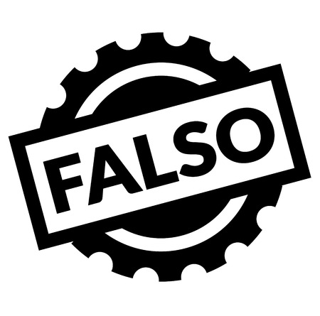 false black stamp in spanish language. Sign, label, sticker