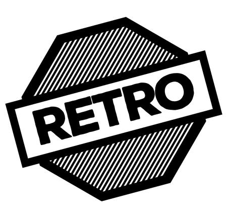 retro black stamp on white background. Sign, label, sticker