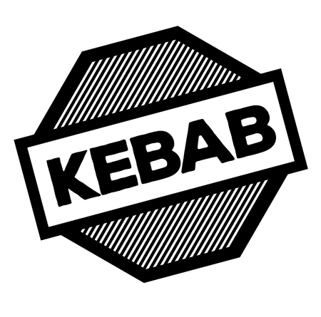 kebab black stamp on white background. Sign, label, sticker Illustration