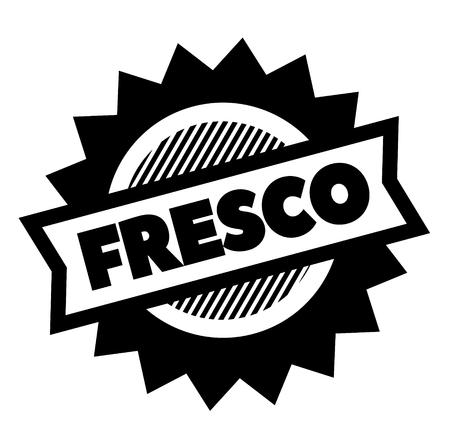 fresh black stamp in spanish language. Sign, label, sticker Archivio Fotografico - 111758082