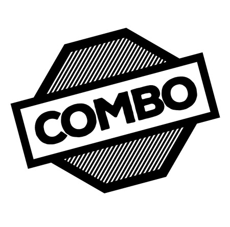 combo black stamp on white background. Sign, label, sticker  イラスト・ベクター素材