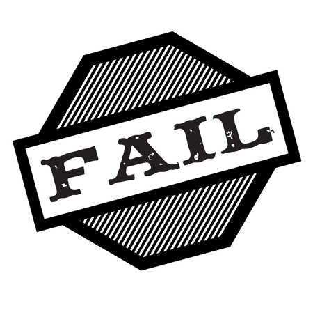 fail black stamp on white background. Sign, label, sticker Ilustração