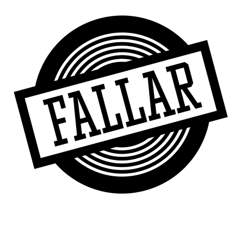 fail black stamp in spanish language. Sign, label, sticker