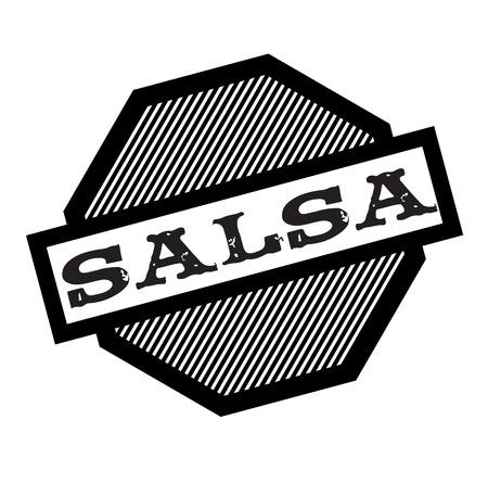 salsa black stamp on white background. Sign, label, sticker