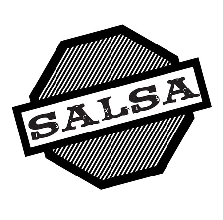 salsa black stamp on white background. Sign, label, sticker Illustration