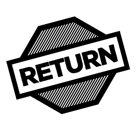 return black stamp on white background. Sign, label, sticker Stock Illustratie