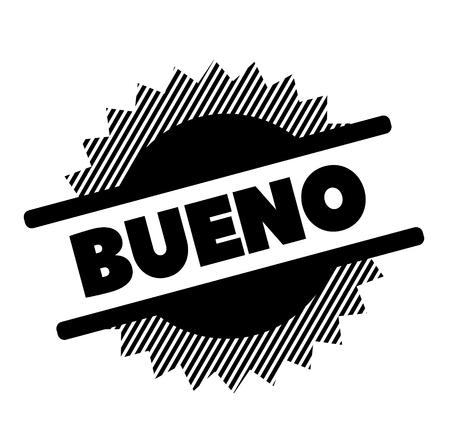 good black stamp in spanish language. Sign, label, sticker