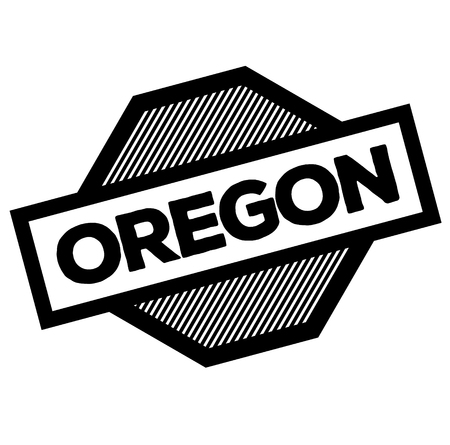 oregon black stamp on white background. Sign, label, sticker  イラスト・ベクター素材