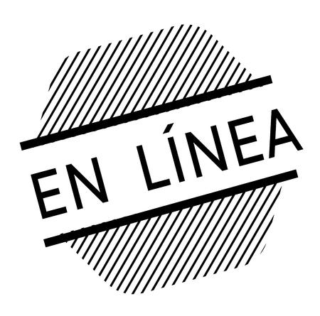 online black stamp in spanish language. Sign, label, sticker