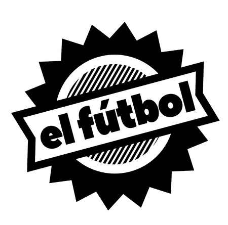 football black stamp in spanish language. Sign, label, sticker Illustration
