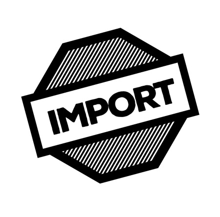import black stamp on white background. Sign, label, sticker Illustration