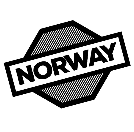norway black stamp on white background. Sign, label, sticker