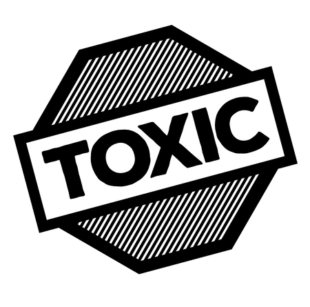 toxic black stamp on white background. Sign, label, sticker