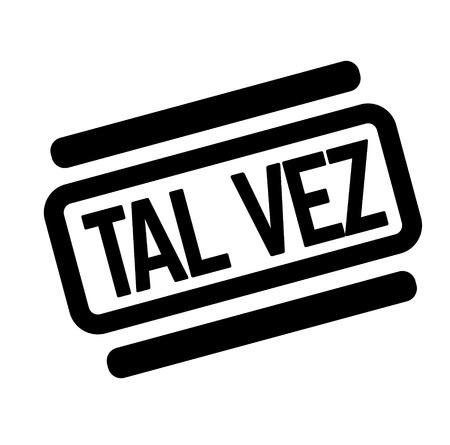 maybe black stamp in spanish language. Sign, label, sticker