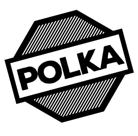 polka black stamp on white background. Sign, label, sticker Imagens - 106845240