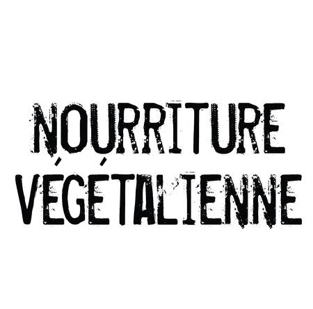 vegan food stamp in french Stock Illustratie