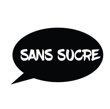 sugarfree black stamp in french language. Sign, label, sticker Illustration