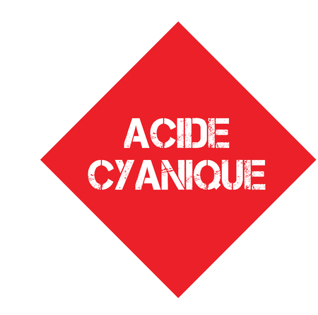 cyanic acid stamp in french Illustration