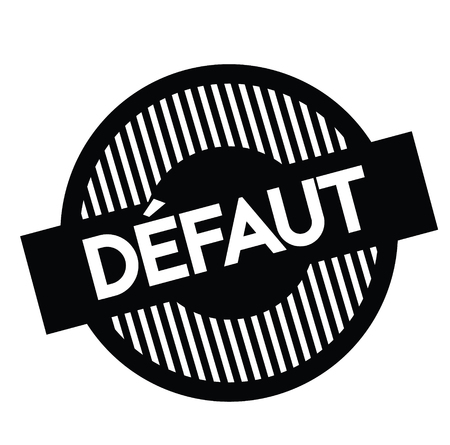 defect black stamp in french language. Sign, label, sticker