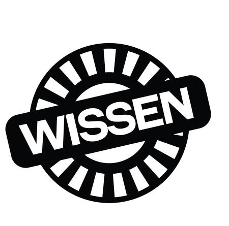 knowledge black stamp in german language. Sign, label, sticker