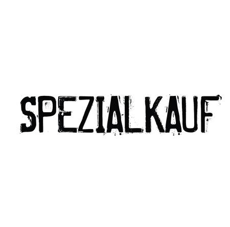 special buy stamp in german Illustration