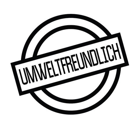 eco friendly black stamp in german language. Sign, label, sticker