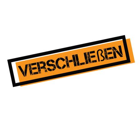 shut up stamp in german