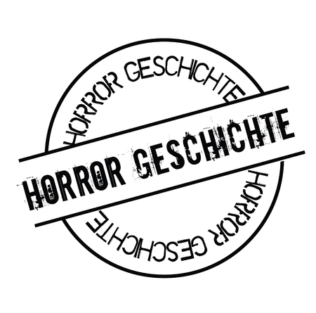 horror story stamp in german